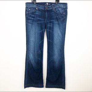 7 For All Mankind DOJO Jeans Wide Leg Flare Sz 31